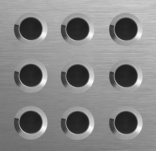 tactile Plate - Black Polyring