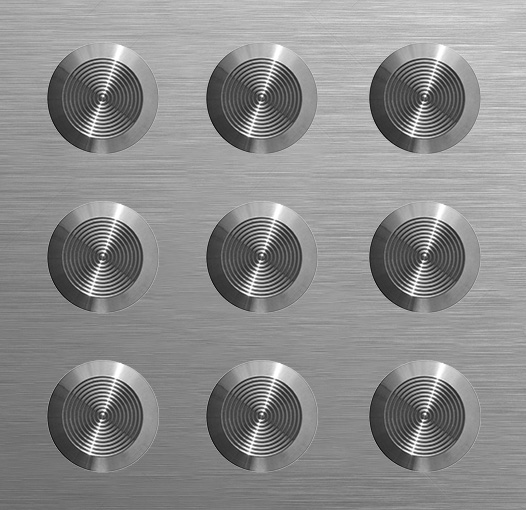 tactile Plate - Concentric Stainless Steel