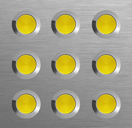 tactile Plate - Yellow Polyring